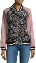 Goldie Women's Embroidered Floral Bomber Jacket