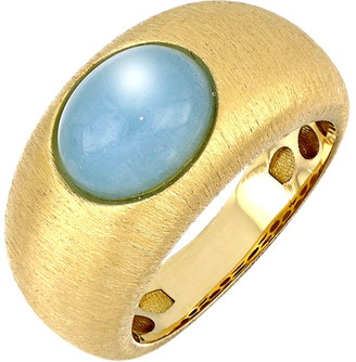 Bony Levy Iris Milky Aquamarine Wide Ring