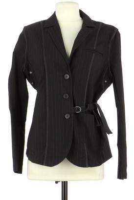 Ikks Black Cotton Jacket for Women