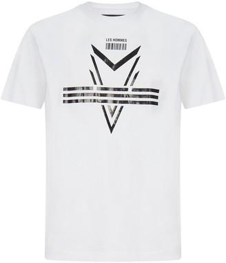 Les Hommes Darts Logo Cotton T-shirt