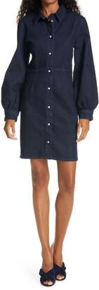 Sams?E Sams?E Berthe Long Sleeve Denim Shirtdress