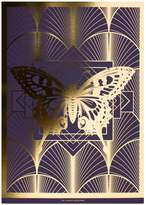 The Curious Department - Deco Butterfly Gold & Purple Print