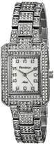 Swarovski Armitron Women's 75/5251MPSV Crystal-Accented Silver-Tone Rectangular Watch