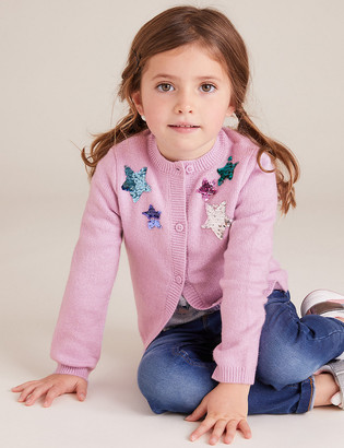 Marks and Spencer Sequin Star Cardigan