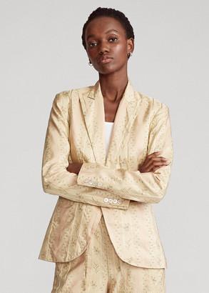 Ralph Lauren Floral Silk-Blend Blazer