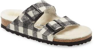 Birkenstock Arizona Genuine Shearling Slide Sandal