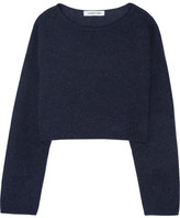 Elizabeth and James Vann Cropped Knitted Sweater - Navy