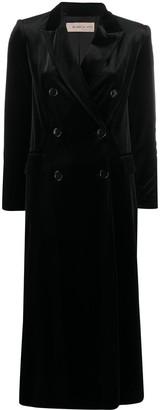 Blanca Vita Velvet Double-Breasted Coat