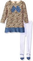 "Bon Bebe Baby Girls' ""Chambray Cheetah"" 2-Piece Outfit"