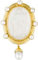 Elizabeth Locke 18K Mother Of Pearl Cameo Pin
