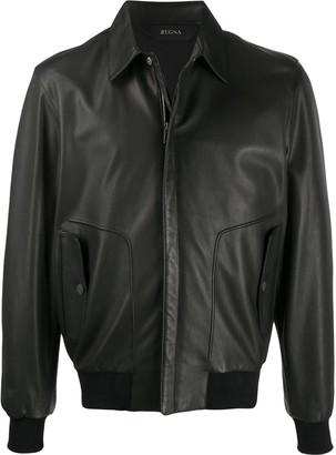 Ermenegildo Zegna signature aviator jacket