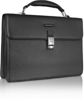 Piquadro Modus - Black Leather Laptop Briefcase