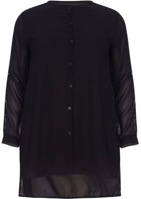 Yumi London Curve Button Down Plus Size Blouse