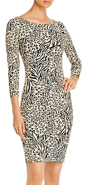 T Tahari Animal Print Dress