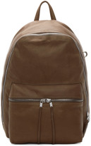Rick Owens Tan Leather Backpack