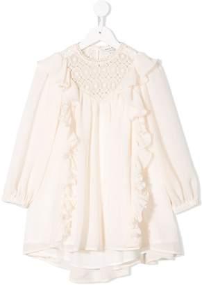 Philosophy di Lorenzo Serafini Kids ruffle long sleeve dress