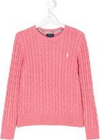 Ralph Lauren logo knitted sweater - kids - Cotton - 14 yrs