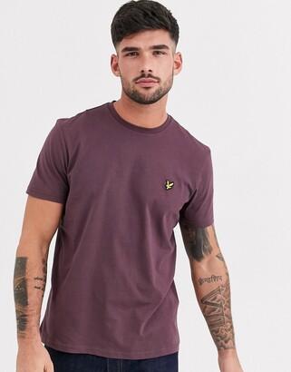 Lyle & Scott logo t-shirt in burgundy-Red