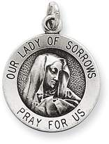 1928 Gold and Watches Sterling Silver Antiqued Our Lady of Sorrows Medal