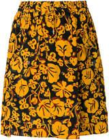 Kenzo Floral Leaf mini skirt