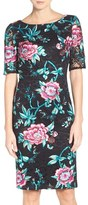 Eliza J Petite Women's Floral Embroidered Lace Sheath Dress