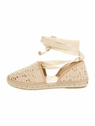 Jimmy Choo Printed Embroidered Accent Espadrilles