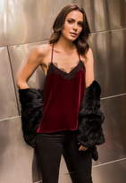 CAMI NYC The Racer Velvet Contrast