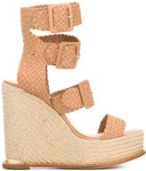 Paloma Barceló double ankle strap wedge sandals - women - Calf Leather/Leather - 39