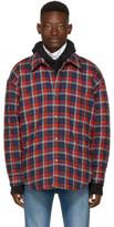 Balenciaga Red Oversized Flannel Shirt