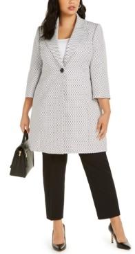 Le Suit Plus Size One-Button Notched-Collar Pant Suit