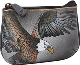 Anuschka Hand Painted Medium Coin Purse American Eagle Wallet