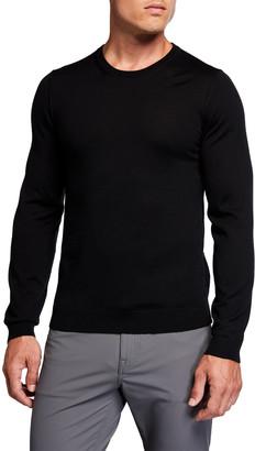 HUGO BOSS Men's Solid Wool Crewneck Sweater