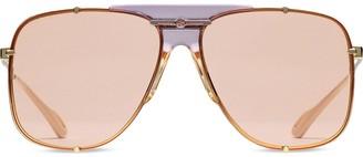 Gucci Narrow Fit Aviator Sunglasses