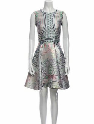 Mary Katrantzou Printed Knee-Length Dress Green