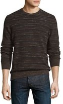 Billy Reid Blurred-Stripes Merino Wool Long-Sleeve Sweater