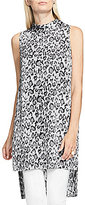 Vince Camuto Sleeveless Mock Neck Leopard Flurry Long Tunic