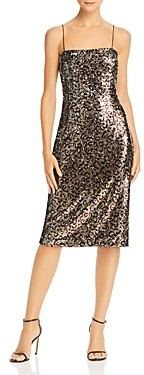 Milly Kaia Sequin Leopard Midi Dress