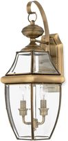 Quoizel Newbury Antique Brass Two Light Outdoor Fixture
