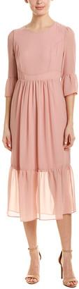 Hone Year Midi Silk-Blend Dress