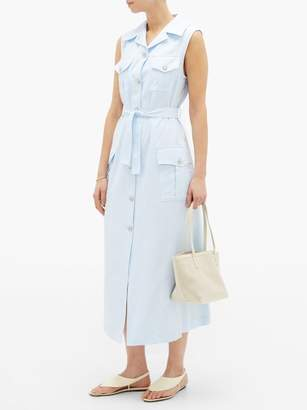 Giuliva Heritage Collection The Mary Angel Belted Cotton Shirt Dress - Womens - Blue