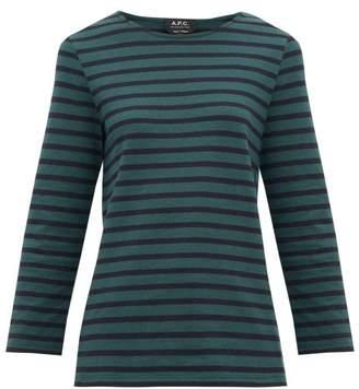 A.P.C. Catarina Breton-striped Cotton Top - Womens - Green Multi