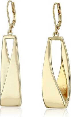 Anne Klein Gold-Tone Linear Drop Earrings
