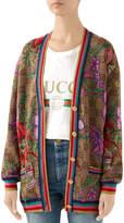 Gucci Wool CC Big Flora Holiday Cardigan