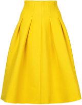 Le Ciel Bleu tuck knit skirt - women - Nylon/Acetate - 36