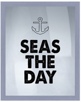 "PTM Images Seas The Day Framed Silkscreen Wall Art - 16.75"" x 20.75"""