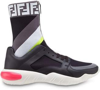 Fendi technical fabric sock sneakers