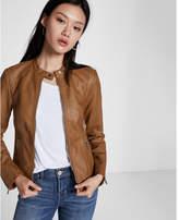 Express Faux leather double peplum jacket