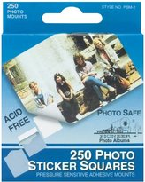 Pioneer Photo Squares Self Adhesive 250/Pkg-White 1/2""