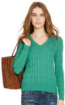 Polo Ralph Lauren Cable Pima V-Neck Sweater