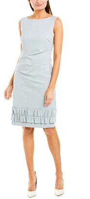 Sara Campbell Linen-Blend Sheath Dress